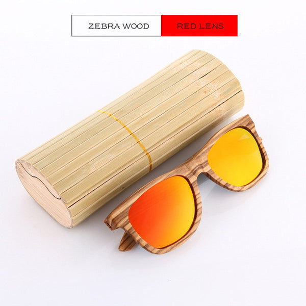 Golden zebra wood sunglasses KD015T