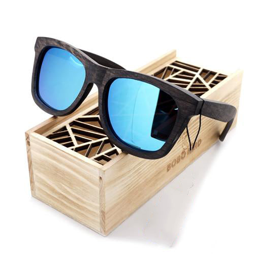 Style No. WS10017 - Bobo Bird All Wooden Sunglasses with Storage Case