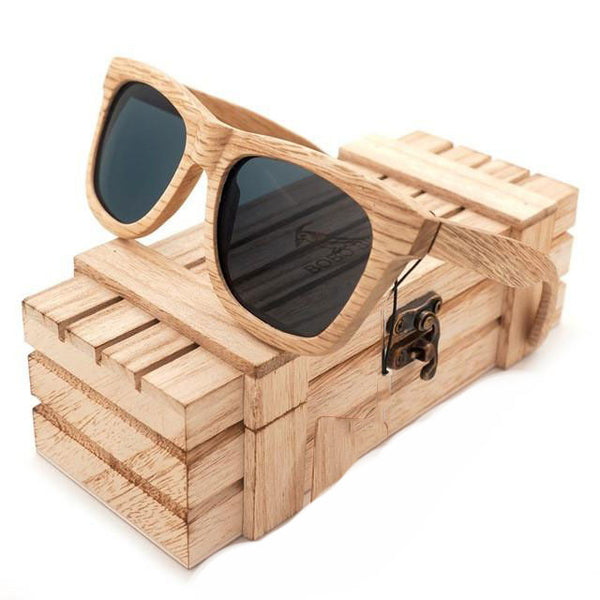 d5d9afc46d MHM02 - Mirrored Lenses All-Natural Wood Sunglasses for Men with Storage ...