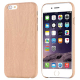 Iphone7 7 plus Bamboo Wood Grain Pattern PU Leather Skin wooden phone case