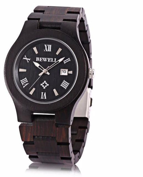 New Arrive Men Wooden Quartz Watch Date Luminous Display Japan Movt Wristwatch Fashion Watches