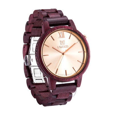 Cherry Wooden Watches With Quartz Wristwatches In Bracelet Style