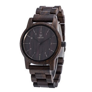 Black Sandal Wooden Watches With Quartz Movement Analog Wristwatch