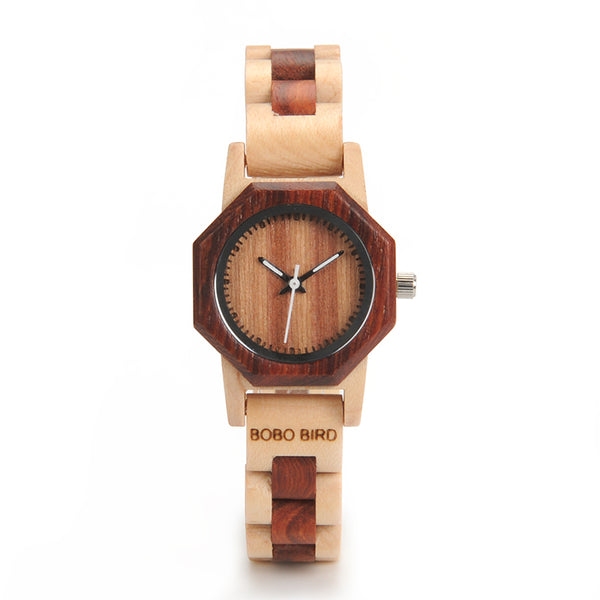 Style No. WM104 - Bobo Bird Wooden Watch for Women with Wooden Band