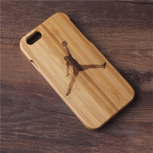 Wooden Case Cover For iPhone 5 5s SE 6 6S 6 Plus 6s Plus Jordan Bamboo Traditional Sculpture Wood Hard Back Phone Case