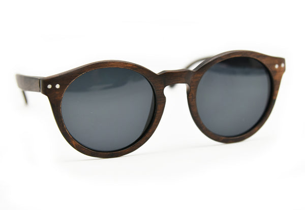 Wood Sunglasses Vintage Round Style - WS10068