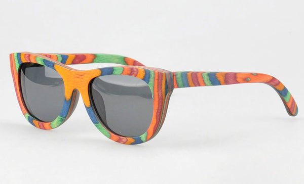 colorful wood sunglasses
