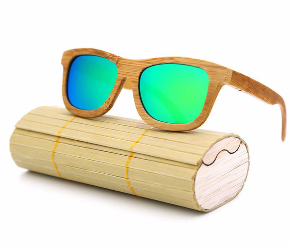 wooden sunglasses cheap in Greenery Color -ZA-03