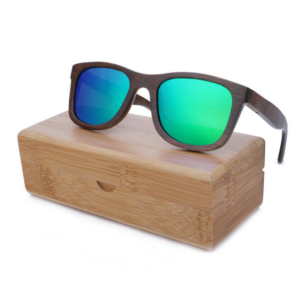 Polarized Wood Sunglasses in Bamboo wood - 19005