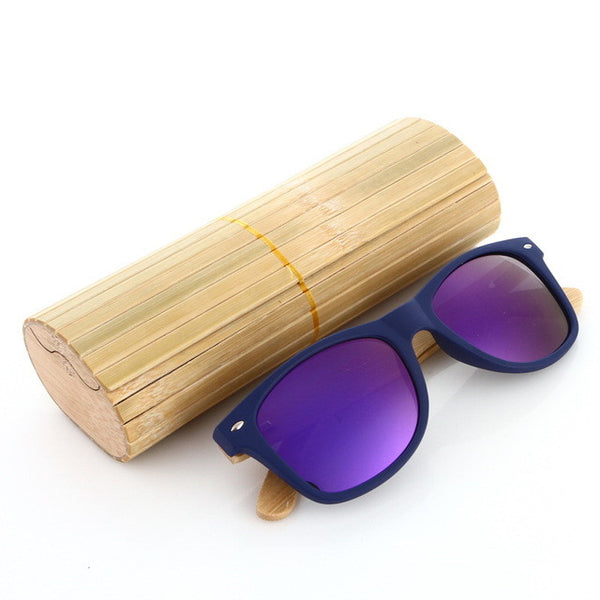 Wood Sunglasses with Purple Lens - WS10048