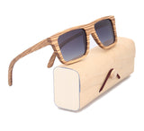 Zebra Wood Sunglasses In Square & Rectangle Style And Polarized