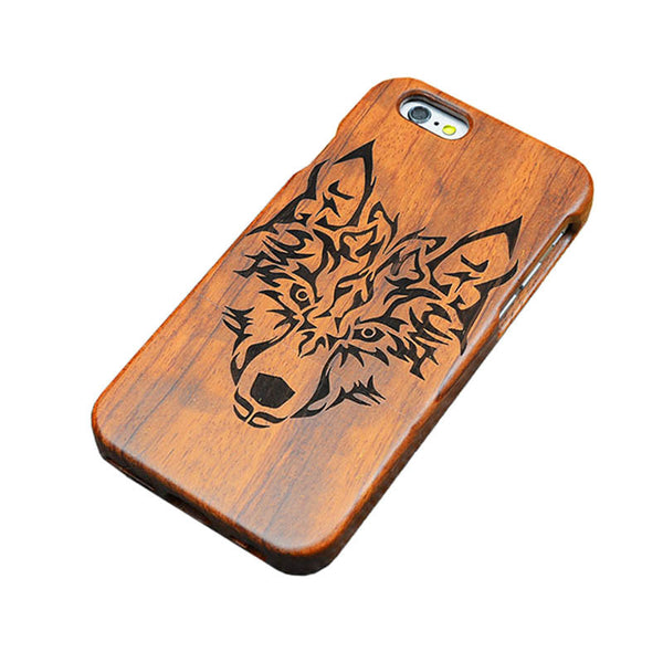 iPhone 7, 7 Plus Genuine Wooden Case Retro Relief Carving
