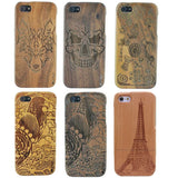 Eagle/Pagoda/wolf/Skull pattern wood phone back Case Cover for iPhone 5 5G 5S phone shell BSJK0943