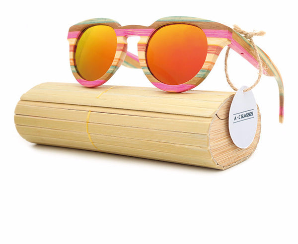 wooden polarized sunglasses for women with UN400 protaction Lens