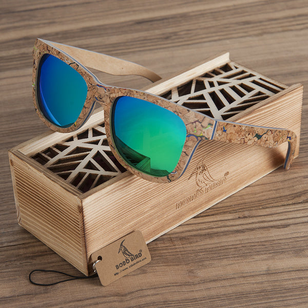 Square & Rectangle Wood Sunglasses -WS10055