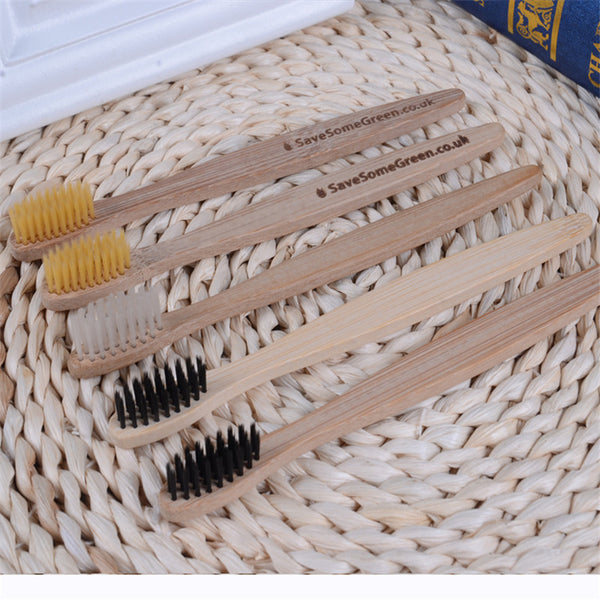 Environmentally Wood toothbrush novelty bamboo toothbrush soft-bristle capitellum bamboo fibre wooden handle