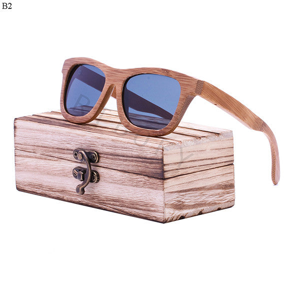 Retro Bamboo Wood Sunglasses For Women and Men - WS10030