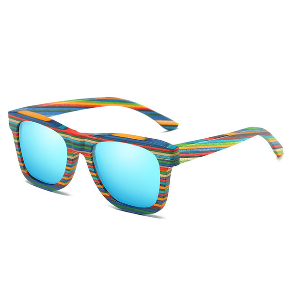 Cheap Skateboard Wood Sunglasses -WS10078