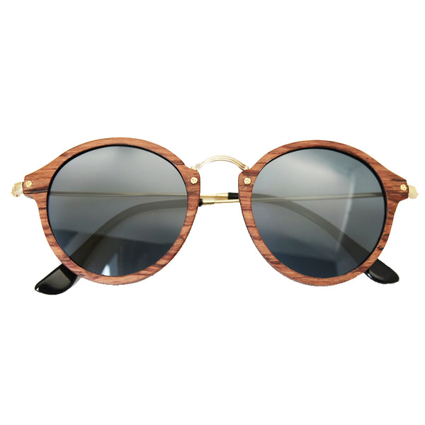 Ultralight Wooden Round Frame Sunglasses - WS10067