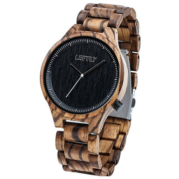 Wooden Quartz Watches Handmade Simple Analog - WR10010