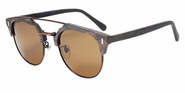 Wooden Half Frame Sunglasses - WS10069