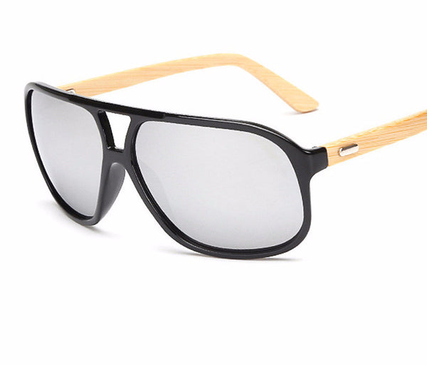 Sunglasses With Bamboo Wood Arms - WS10045