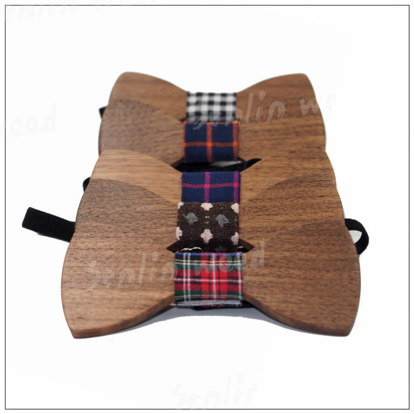Hot Sale Formal Handcrafted Wooden Bow Ties for Men