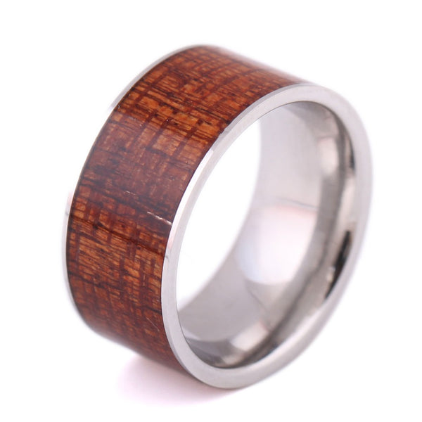 Style No. WR234 - Handmade Wood Grain Ring with Classic Look