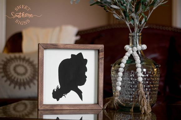Silhouette Framed Farmhouse Sign