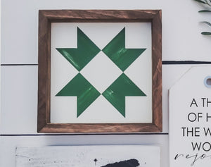 Barn quilt Framed Farmhouse Sign