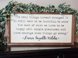 "*FLAWED* READY TO SHIP ""Laura Ingalls Wilder"" Framed Sign"