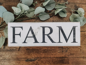 "Wood Sign - ""Farm"""