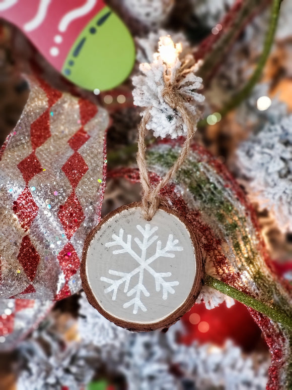 Snowflake - Wood Slice Ornament