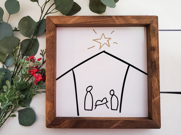 Framed Sign - Nativity
