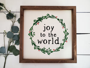 """Joy to the World"" - Framed Sign"