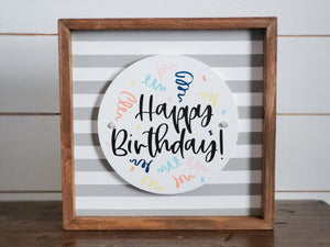 Happy Birthday - Interchangeable Plate