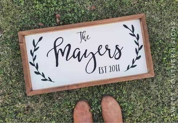 Personalized Farmhouse Sign - MAYERS