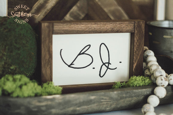 Signature Mini Framed Farmhouse Sign