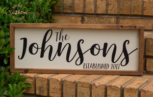 Personalized Farmhouse Sign - JOHNSON'S