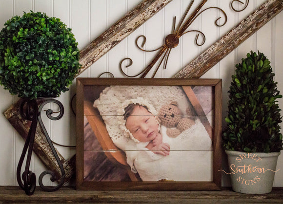 Custom Farmhouse Frame Wood Picture