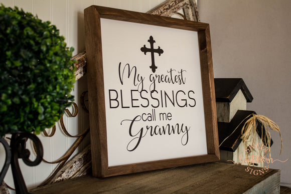 Personalized Farmhouse Sign- Grandparents