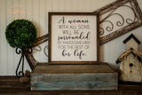 """A Woman With All Sons"" Farmhouse Signs"