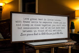"""Love Grows Best"" Oversized Farmhouse Sign"