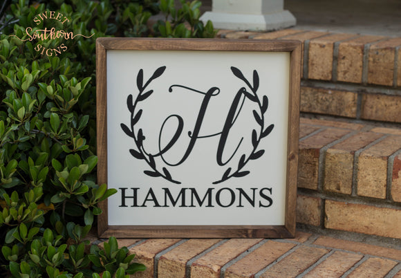 Personalized Farmhouse Sign - HAMMONS