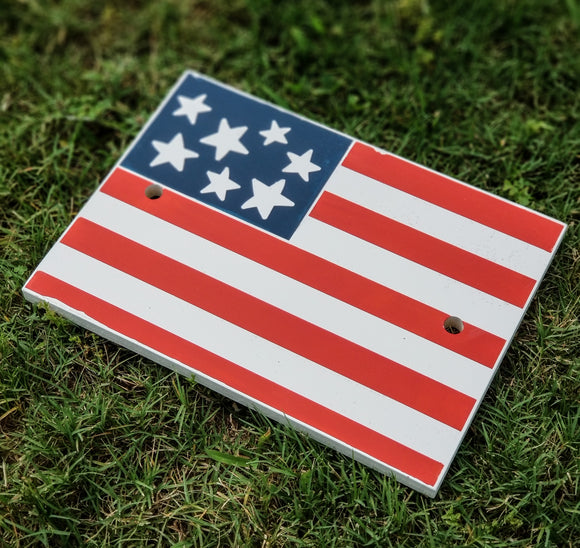 Patriotic Flag- Interchangeable Plate