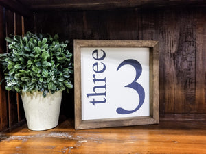 "READY TO SHIP ""3"" Framed Farmhouse Sign"