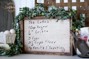 Handwritten Index Card Framed Farmhouse Sign