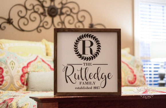 Personalized Farmhouse Sign- RUTLEDGE