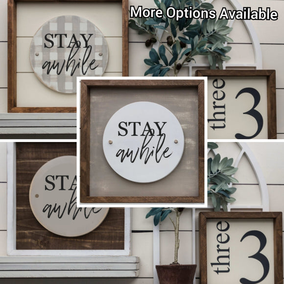Stay Awhile - Interchangeable Plate