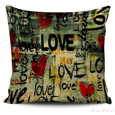 Pillow Cover - Retro Love